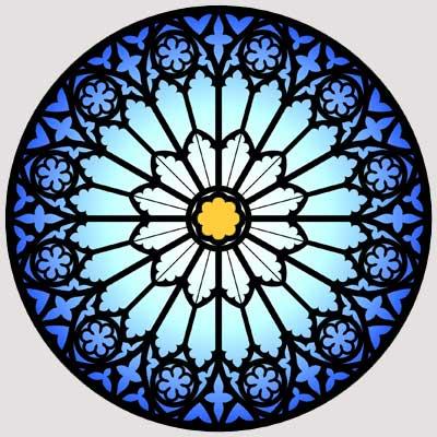 alchemy symbol rose window meaning