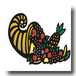 cornucopia as a symbol for good luck in business