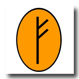 Feoh rune symbol for good luck in business