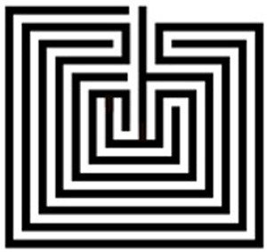 Hopi symbol Tapuat maze and symbol for life