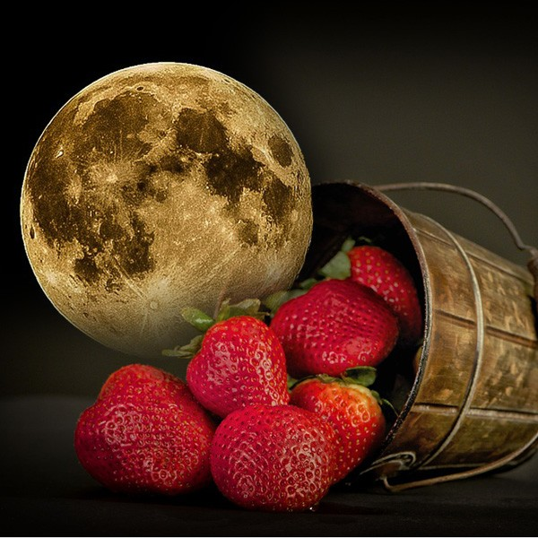Native American moon signs for June - Strawberry moon meaning