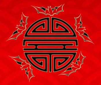 Chinese symbol longevity bats