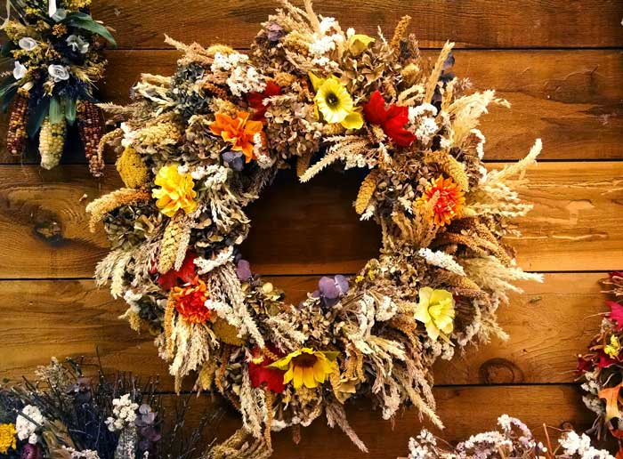Fall and Autumn wreath meaning