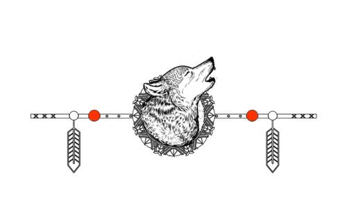 Native American Animal Birth Totem Wolf
