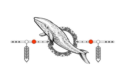 Native American Animal Birth Totem - Whale