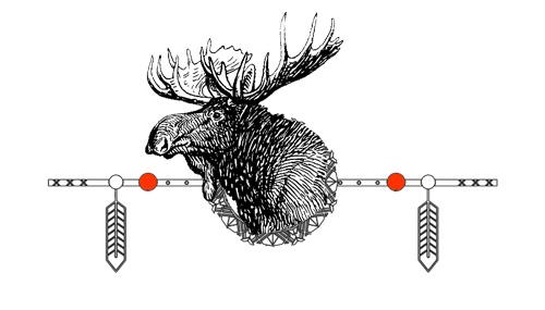 Native American Animal Birth Totem Moose