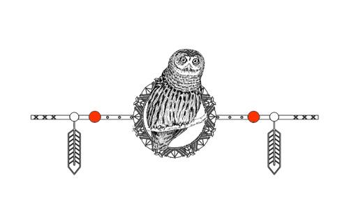 Native American Animal Birth Totem Owl