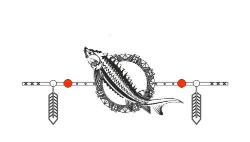 Native American Animal Birth Totem Sturgeon